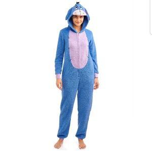 Disney Eeyore Fleece 1 Piece Full Zip Costume